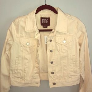 Ivory BDG Urban Outfitters Denim Jacket
